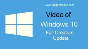 Video of Fall Creators Update